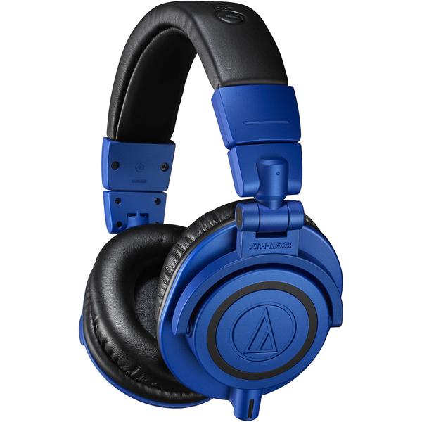 Audio Technica ATH M50X Headphones blue